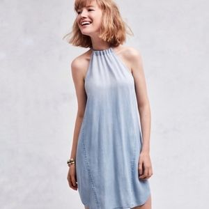 Anthropologie Cloth and Stone Halter Summer Dress